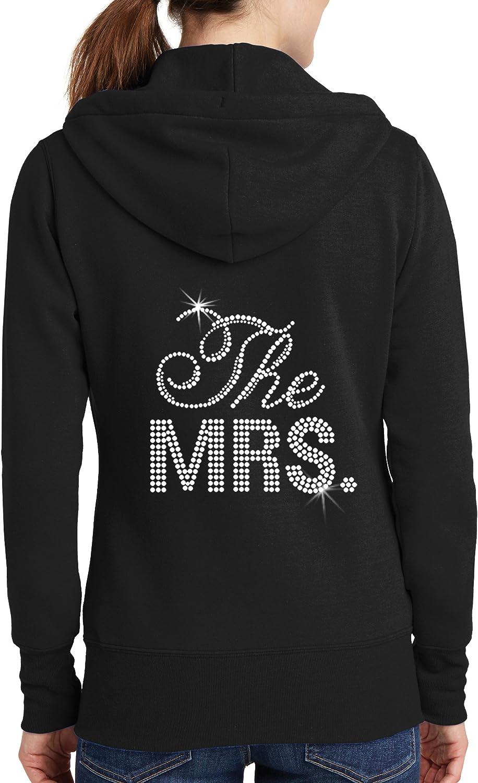 The Mrs. Rhinestone Bridal Hoodie - Black