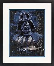 Dimensions 70-35381 Star Wars Darth Vader Cross Stitch Kit Black 14 Count Aida, 9