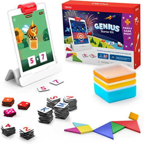 Osmo - Genius Starter Kit for iPad + Family Game Night - 7 Educational Learning Games for Spelling, Math & more - Age...