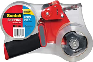 Scotch Packaging Tape Dispenser with 2 Rolls of Heavy Duty Shipping Packaging Tape, Designed for Standard 3