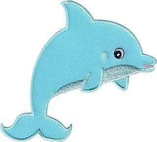 PatchMommy PatchMommy Delphin Delfin Patch Aufnäher Applikation Bügelbild - zum Aufbügeln oder Aufnähen - für Kinder/Baby