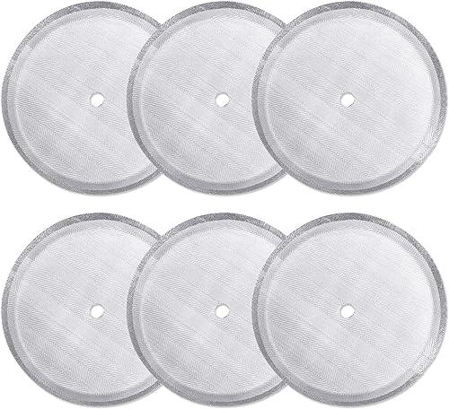 CKANDAY - Paquete de 6 filtros de filtro de prensa francesa, filtros de malla de acero inoxidable reutilizables para ...