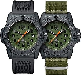 ساعة معصم رجالي من لومينوكس، لون أزرق بحري، مقاس XS.3517.NQ. مجموعة - 45 مم، لون أسود، أخضر مقاوم للصدأ 200 متر مقاوم للماء