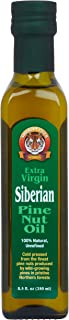 Extra Virgin Siberian Pine Nut Oil, 8.5 oz. Bottle - Premium Quality, Unrefined, 100% Natural - Benefits Overall Health & Aids Gastritis, Ulcers, Digestive Issues
