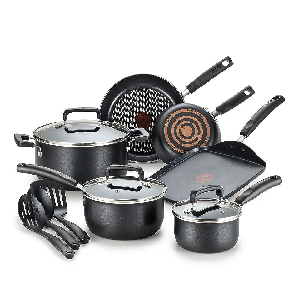 価値モノグラフピッチT-fal ティファール シグニチュア ノンスティック 12ピースセット 【並行輸入】 Signature Nonstick 12-Piece Cookware Set