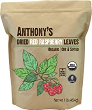 Anthony's Organic Red Raspberry Leaves, 1lb, Cut & Sifted, Gluten Free, Non GMO, Non Irradiated, Keto Friendly
