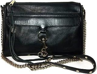 Rebecca Minkoff Black Gold Chain Mac Crossbody Handbag