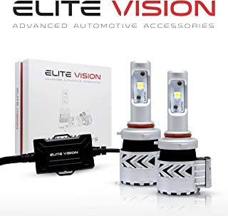 Elite Vision Advanced Automotive Accessories - Olympus LED Conversion Kit 9012 for Bright White Headlights Bulbs, Low Beams, High Beams, Fog Lights