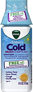 Vicks Children's, Cold Day Multi-Symptom Relief from Cough, Sore Throat, Fever, with Acetaminophen, Free of Artificial Dye...