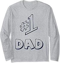 #Papa numéro 1 Cadeaux pour papa Fête des pères Cadeau Manche Longue