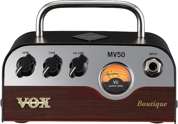 testata per chitarra elettrica 50 watt con valvola nutube vox mv50 bq boutique 100021886000
