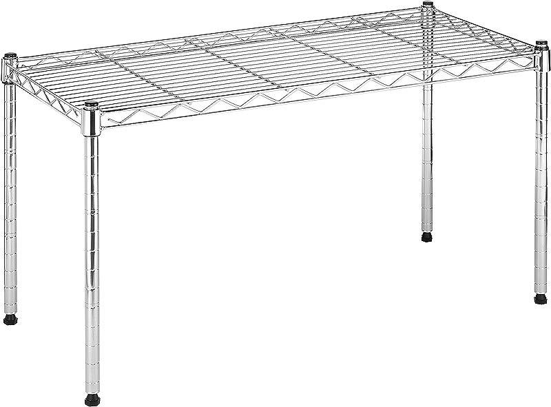 Whitmor Supreme Wide Stacking Shelf Heavy Duty Adjustable Chrome