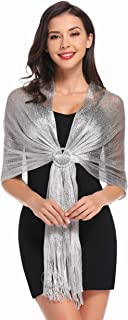 Sparkling Shawl Scarf and Wraps for Evening Party and Formal Dresses (20+ Colors)