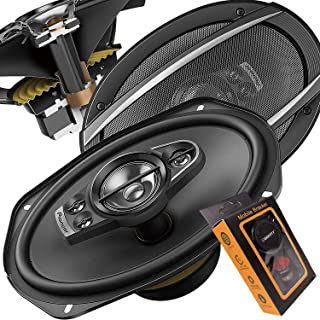2 Pairs of Pioneer 5x7/ 6x8 Inch 4-Way 350 Watt Car Audio Speakers | TS-A6880F (4 Speakers) with 50 Feet Speaker Wire and ...