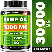 Hemp Oil Capsules 1000 MG PER SERVING - Best for Anxiety & Stress Relief - Hemp Capsules made in USA - 100% Natural - Anti Inflammatory, Mood & Immune Support - Skin Health, Deep Sleep - Omega 3, 6, 9