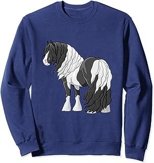 Black Piebald Pinto Gypsy Vanner Cob Tinker Draft Horse Sweatshirt