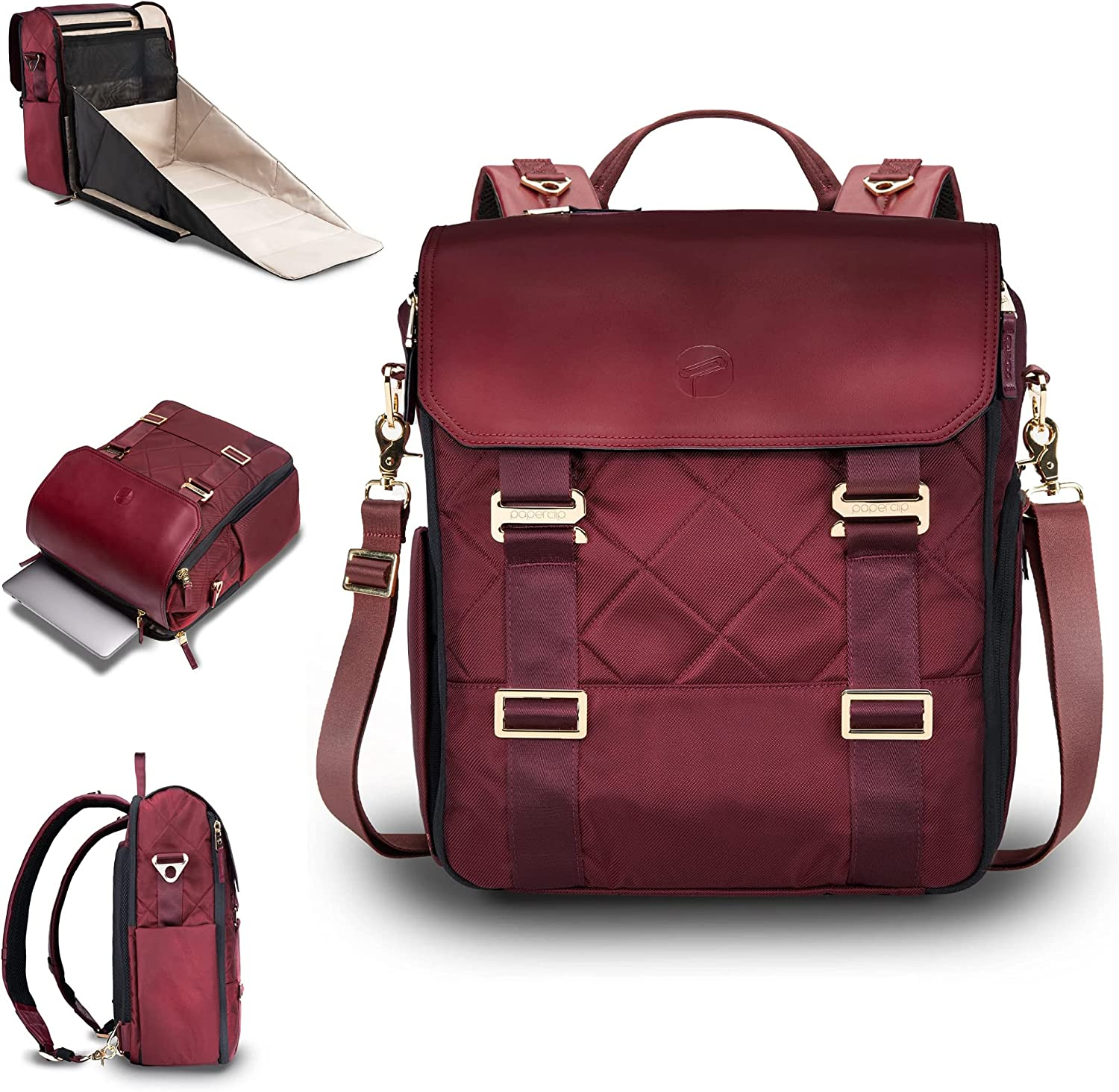 PAPERCLIP Willow - Diaper Bag Backpack with Changing Station
