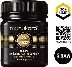 Manukora UMF 20+/MGO 830+ Raw Mānuka Honey (250g/8.8oz) Authentic Non-GMO New Zealand Honey, UMF & MGO Certified, Traceable from Hive to Hand