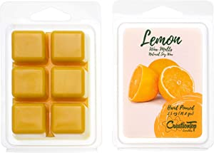 Scented Wax Melts Wax Cubes - Wax Warmer Cubes/Tarts - Soy Wax Air Freshener - Cinnamon, Pumpkin, Bamboo, Passion Fruit, Rosemary, Watermelon, Honey, Gardenia, French Rose (Lemon)
