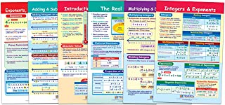 NewPath Learning 93-6502 Integers, Rational and Real Numbers Bulletin Board Chart Set (Pack of 6)