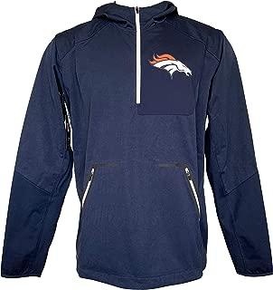 Nike Men's Denver Broncos Navy Vapor Speed Fly Rush Half-Zip Jacket