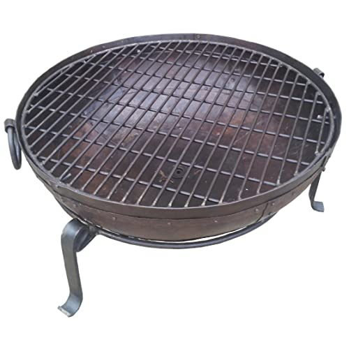 MJD Supplies Indian Fire Bowl Set (80cm bowl, grill & stand) Kadai Bowl/Fire Pit