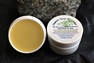 Organic Neem Oil Cream 6.5% Rosemary Ointment Zero Water Concentrated Formula Neem Oil Balm to Naturally Nourish Skin - 0.5 ozJar