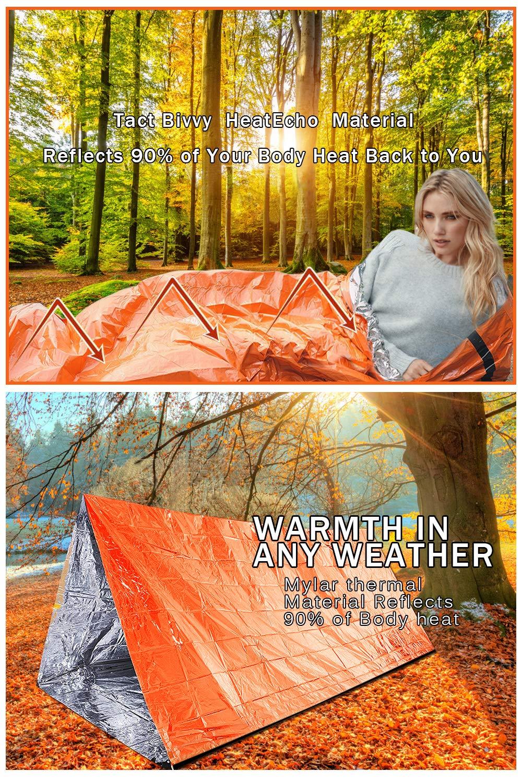2Pcs Survival Emergency Sleeping Bag Lightweight Waterproof Bivvy Bags Camping