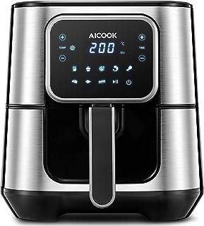 AICOOK 5,5L Friteuse électrique sans huile,1700W Friteuse sans Huile friteuse à air Chaude, écran Tactile LCD,Cuisson en U...