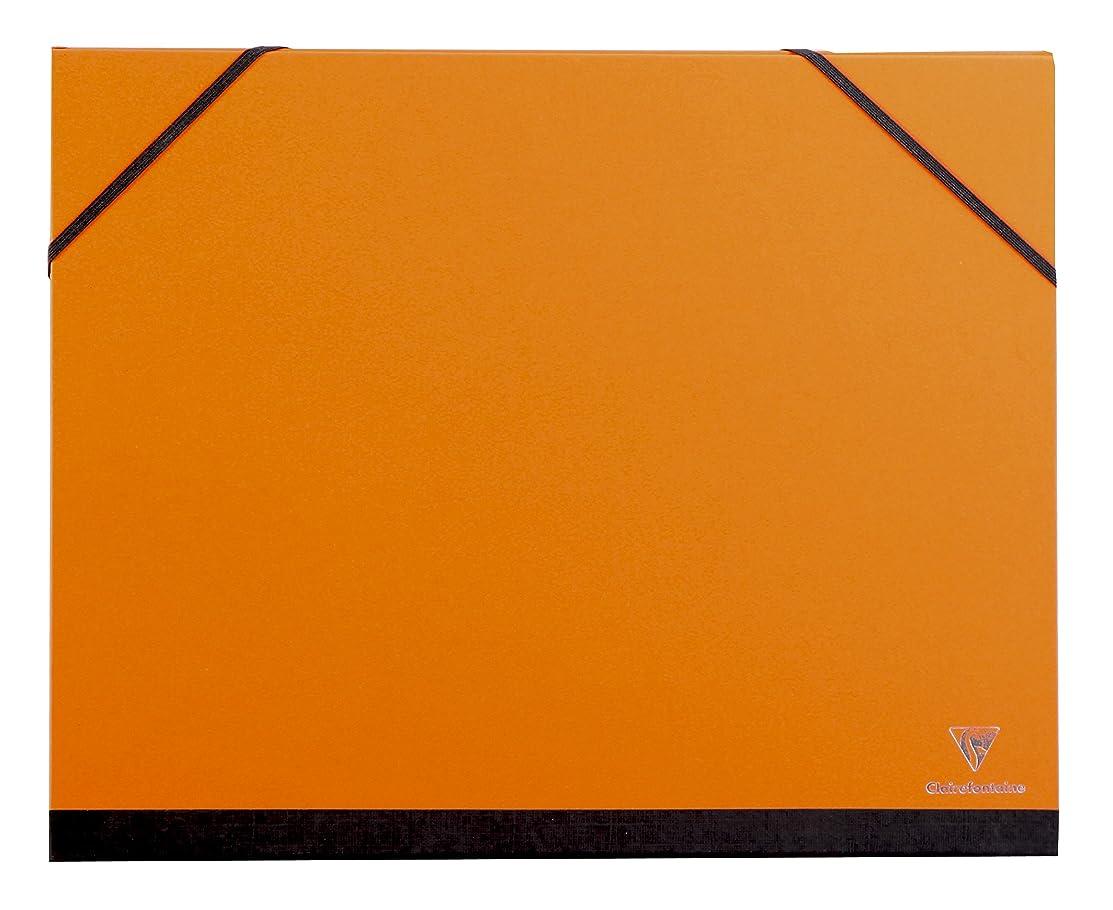 Clairefontaine A4+ Art Folder, Elastic Straps, Orange