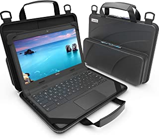 UZBL 11-11.6 inch Work-in Chromebook Laptop Case with Pouch and Shoulder Strap