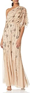 Adrianna Papell Women's One Shoulder Beaded
