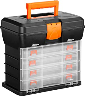 VonHaus Multi-purpose Small Parts, Crafts or Tool Organizer/Storage Box – 4..