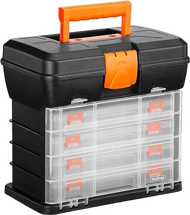VonHaus Werkzeugbox mit 4 Schubladen und einstellbaren Trennwänden.