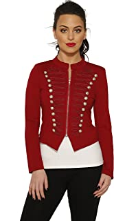 Hearts & Roses Red Brigantine Jacket (Shipped from The US & US Sizes)