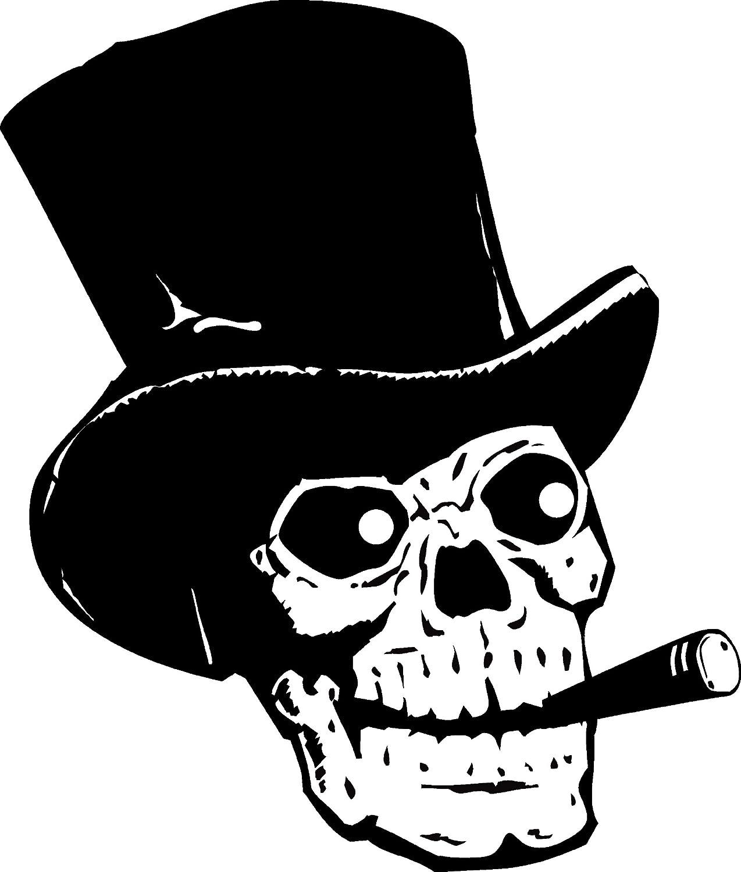 TheVinylGuru Human sale Skull Smoking Wall 2 St Decal - Reservation Sticker