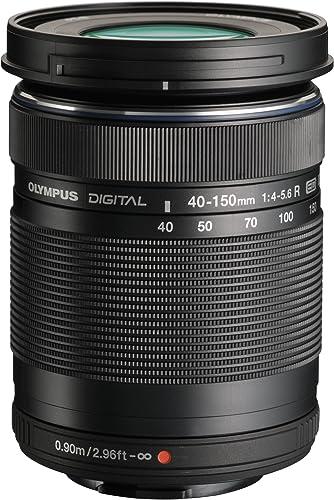 OLYMPUS ED 40-150mm f:4.0-5.6 R Zoom Lens (Black) for Olympus and Panasonic Micro 4/3 Cameras