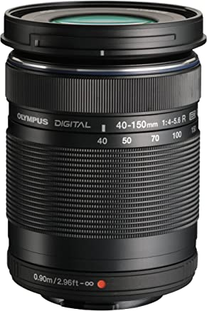 Olympus M. 40-150mm F4.0-5.6 R Zoom Lens (Negro) para cámaras Olympus y Panasonic Micro 4/3