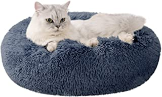Love's cabin Cat Beds for Indoor Cats - Cat Bed with Machine Washable, Waterproof Bottom - Fluffy Dog and Cat Calming Cush...