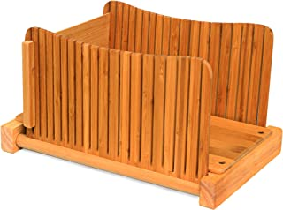 DBTech Bamboo Wood Compact Foldable Bread Slicer