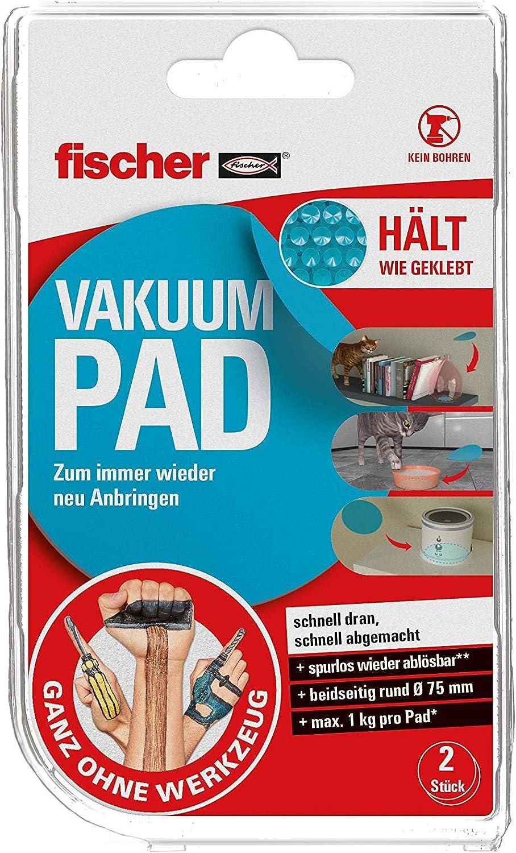fischer Vakuum PAD Beidseitig Rund 200 20, 5463207, Blau