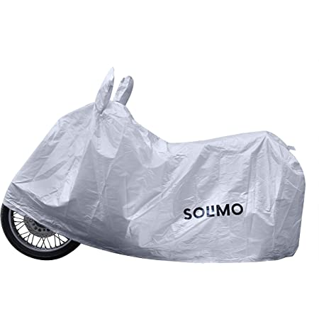 Amazon Brand - Solimo Royal Enfield Classic 350 UV Protection & Dustproof Bike Cover (Silver)