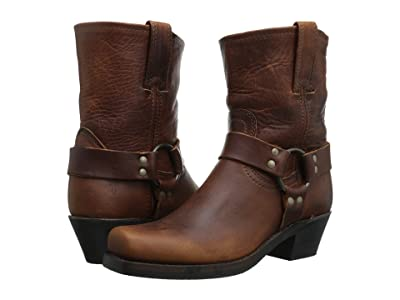 Frye Harness 8R (Cognac Washed Oiled Vintage) Women