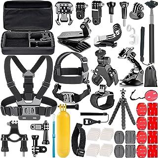 Neewer Kit de Accesorios de Cámara de Acción 58 en 1 para GoPro Hero 7 6 5 4 3+ 3 2 1 4/5 Sesión SJ4000/5000 Nikon y Sony Deporte DV para Montar Camping y Más