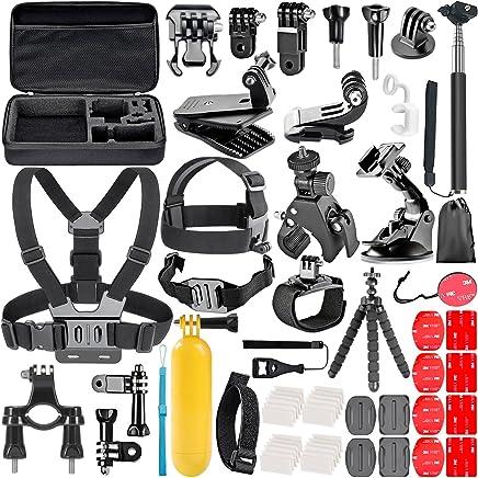Neewer 58-in-1 Accessory Kit for GoPro Hero 7 6 5 4 3+ 3 2 1 Hero Session 5 Black AKASO EK7000 Apeman SJ4000 5000 6000 DBPOWER AKASO VicTsing WiMiUS Rollei QUMOX Lightdow Campark and Sony Sports DV