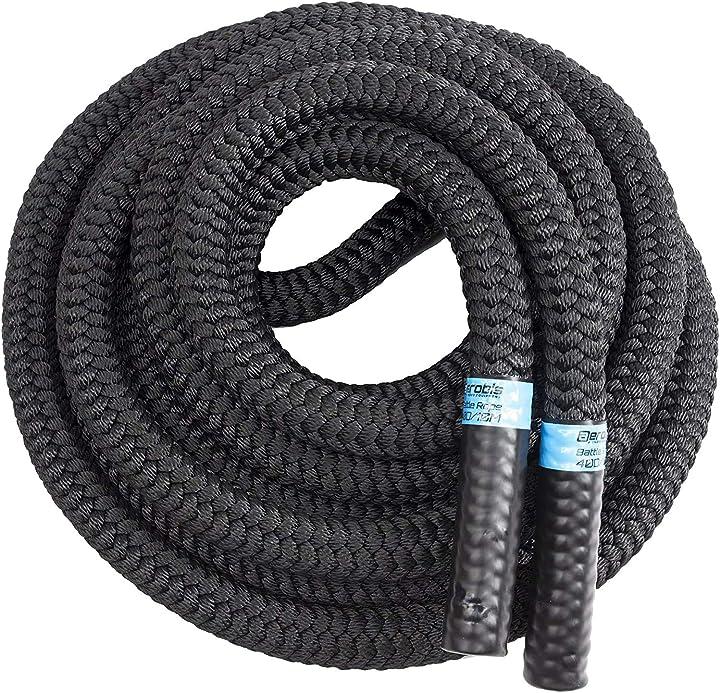 Corda da allenamento battle rope, 35mm diametro/10m lunghezza, nero (schwarz) corda palestra blackthorn B00DJRB6O0