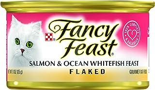 Purina Fancy Feast Salmon & Ocean Whitefish Feast Flaked, 85 gm