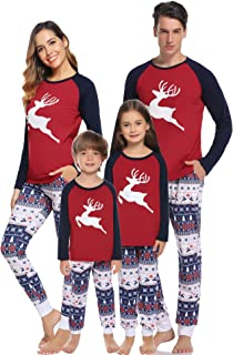 infant and child matching christmas pajamas