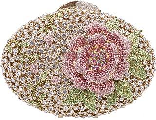 Big Rhinestones Flower Clutch Purses And Handbags For Girls