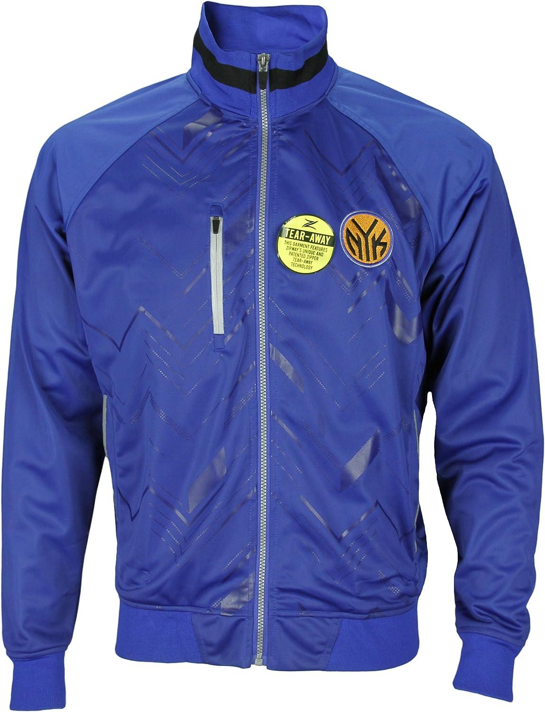 New York Knicks NBA Mens Zig Zag Track Jacket, bluee